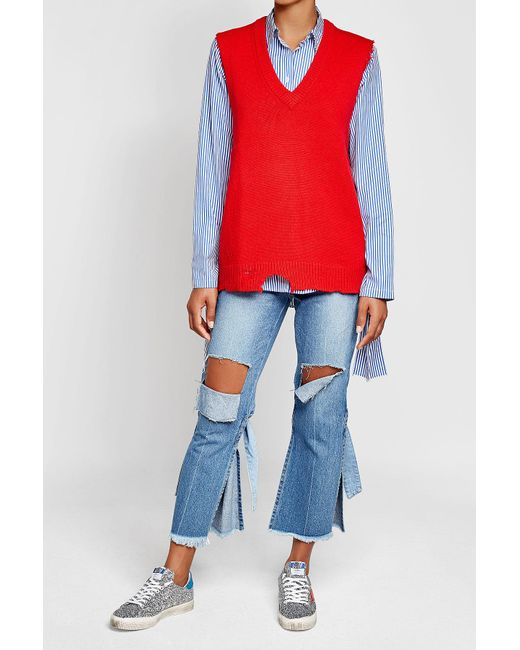 Joseph | Blue Striped Cotton Shirt With Bows | Lyst