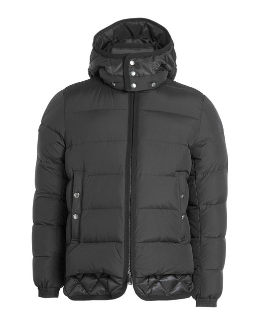 Moncler - Black Quilted Down Jacket With Hood for Men - Lyst