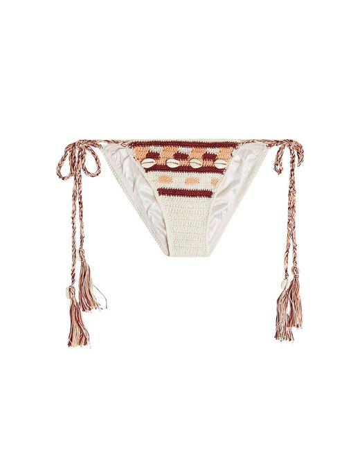 Anna Kosturova - Multicolor Embellished Crochet Bikini Bottoms - Lyst