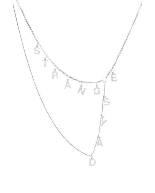 Raf Simons - Multicolor Halskette Strange Days aus Silber for Men - Lyst