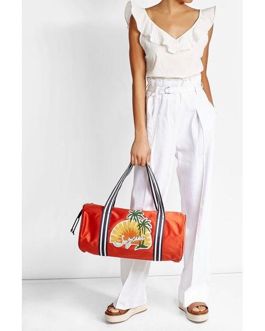 See By Chloé | Red Appliquéd Gym Bag | Lyst