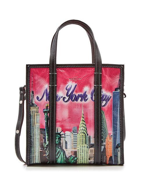Balenciaga - Multicolor Bazar Small Leather Shopper - Lyst