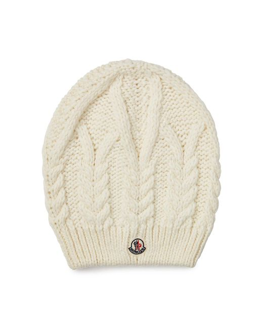 Moncler | Natural Hat With Wool And Alpaca | Lyst