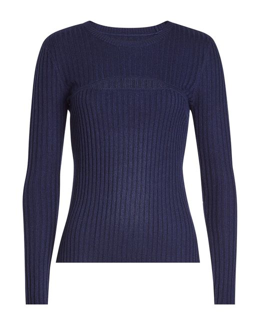 FRAME - Blue Pullover With Wool - Lyst