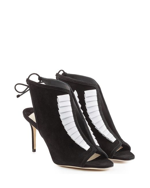 Olgana Paris - White La Indispensable 7 Suede And Leather Pumps - Lyst