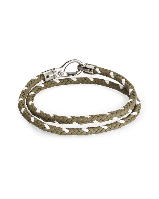 Tod's   Multicolor Braided Leather Wrap Bracelet for Men   Lyst