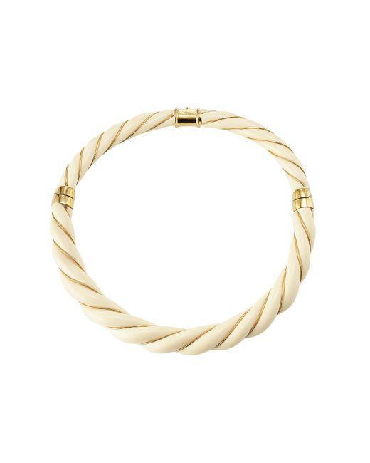 Aurelie Bidermann - Metallic Twisted Necklace - Lyst