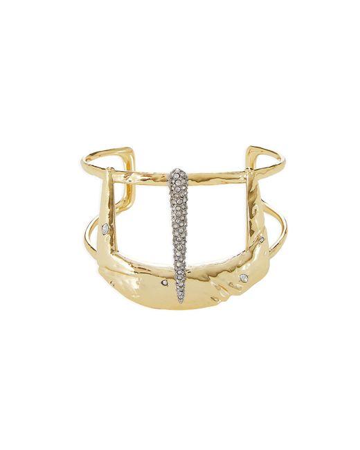 Alexis Bittar - Metallic 10kt Gold Cuff Bracelet With Crystals - Lyst