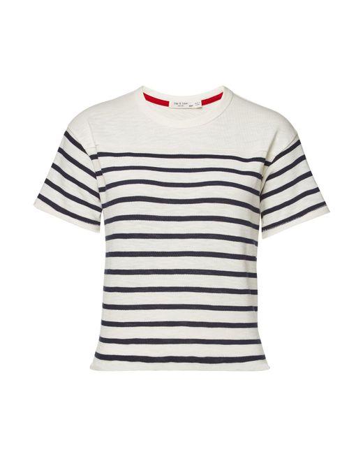 ab33165000 Rag & Bone - Multicolor Halsey Striped Cotton T-shirt - Lyst ...