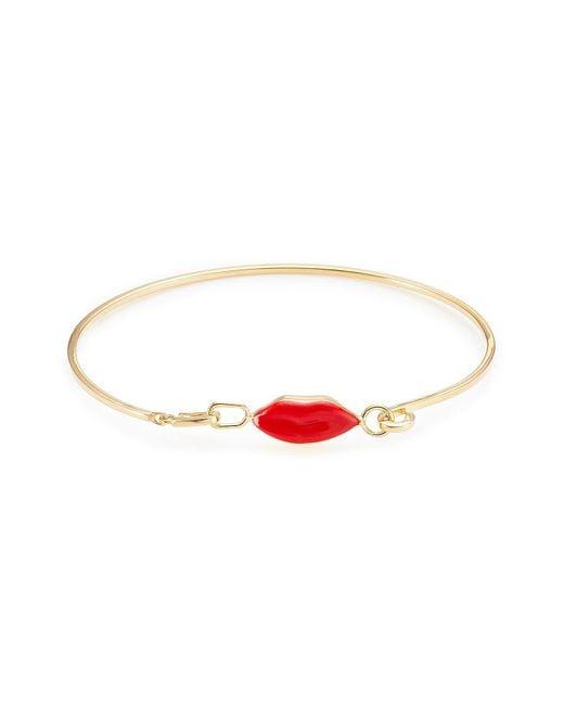 Delfina Delettrez | Metallic 9kt Gold-plated Silver Grandma Lips Bracelet | Lyst