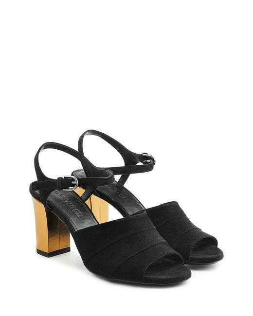 Jil Sander | Black Suede Sandals | Lyst