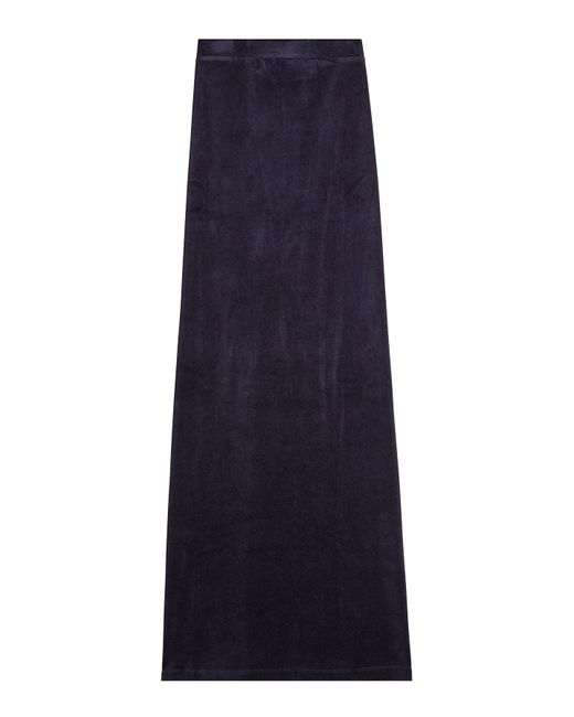 Vetements - Blue X Juicy Couture Velour Maxi Skirt - Lyst