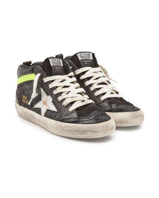 c8c98c71db76 Golden Goose Deluxe Brand - Multicolor Mid Star Glitter And Suede Sneakers  - Lyst ...