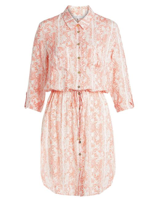 Heidi Klein - Pink Printed Shirt Dress - Lyst