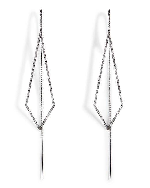 Diane Kordas - 18k Black Gold Triangular Drop Earrings - Lyst