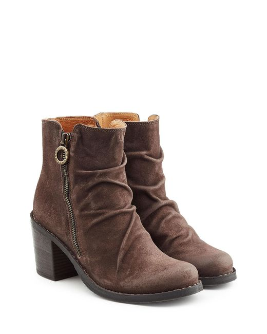 Fiorentini + Baker | Brown Suede Ankle Boots | Lyst