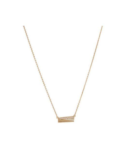 Melinda Maria - Metallic Isabella Pave Necklace - Lyst