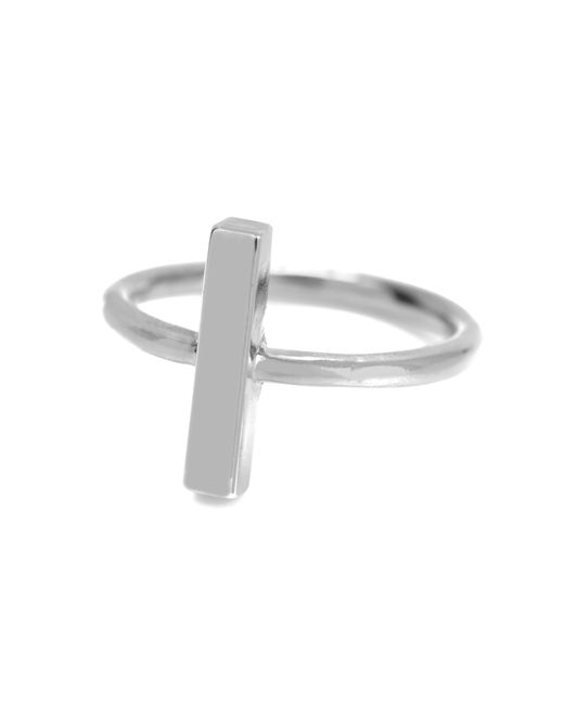 Adina Reyter | Metallic Bar Ring In Silver | Lyst