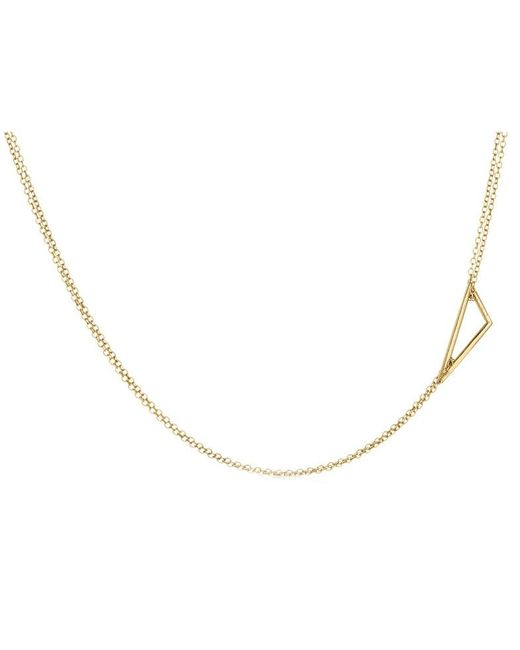 Adina Reyter | Metallic Tiny Right Angle Necklace | Lyst