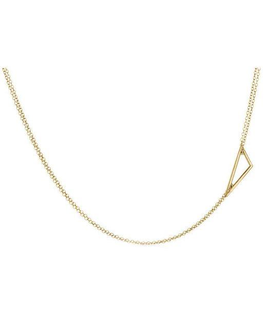 Adina Reyter   Metallic Tiny Right Angle Necklace   Lyst