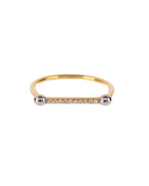 Luv Aj - Metallic Single Barbell Ring In Gold - Lyst