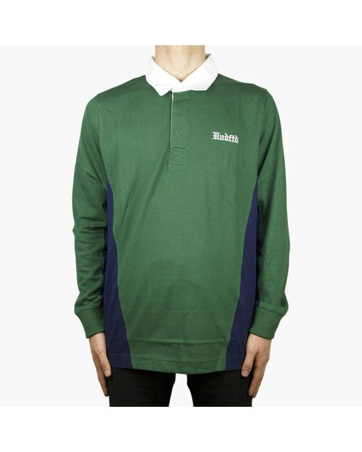 Undefeated - Green Rugby Shirt L/sl for Men - Lyst
