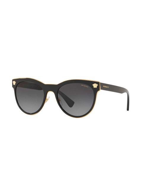 a3966cbae169 Versace - Black Polarized Sunglasses