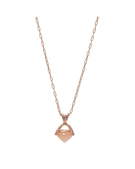 Anna Sheffield | Metallic Large Emma Droplet Necklace, 14k Rose Gold | Lyst