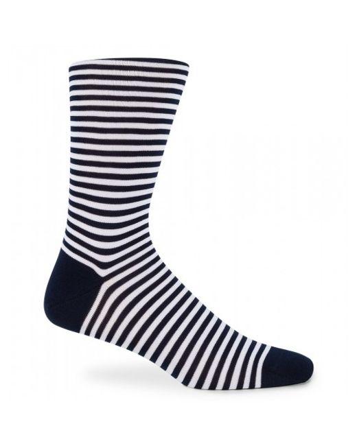 Sunspel | Black Men's Mercerised Cotton Socks In White / Navy for Men | Lyst