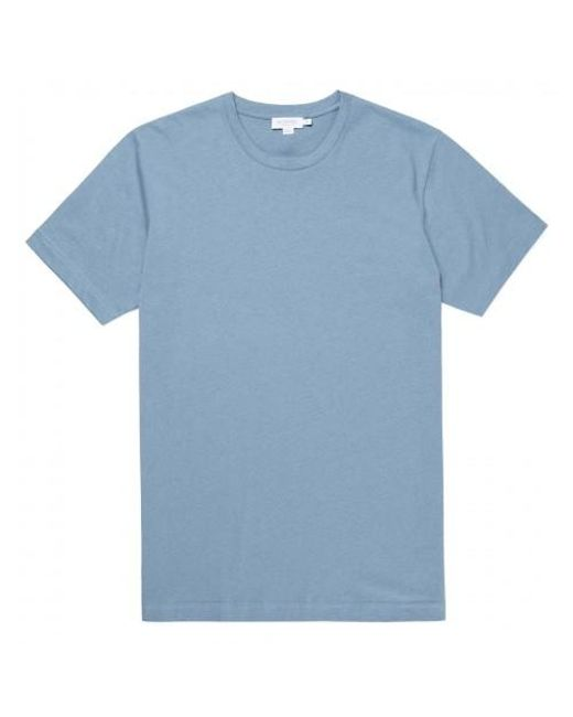 f11bb91863a Sunspel - Blue Men s Organic Cotton Riviera T-shirt In Woad Melange for Men  ...