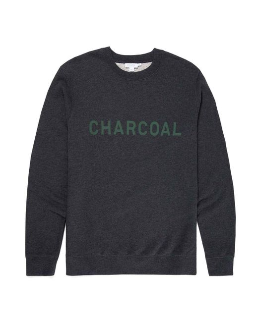 Sunspel - Gray X Perfumer H Cotton Loopback Sweatshirt In Charcoal Melange for Men - Lyst