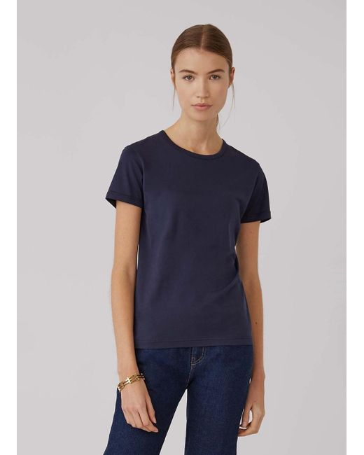Sunspel Blue Women's Classic Cotton T-shirt In Navy