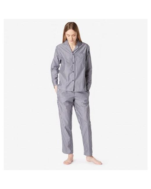 Sunspel | Blue Women's Striped Chambray Pyjama Top In Navy / White | Lyst