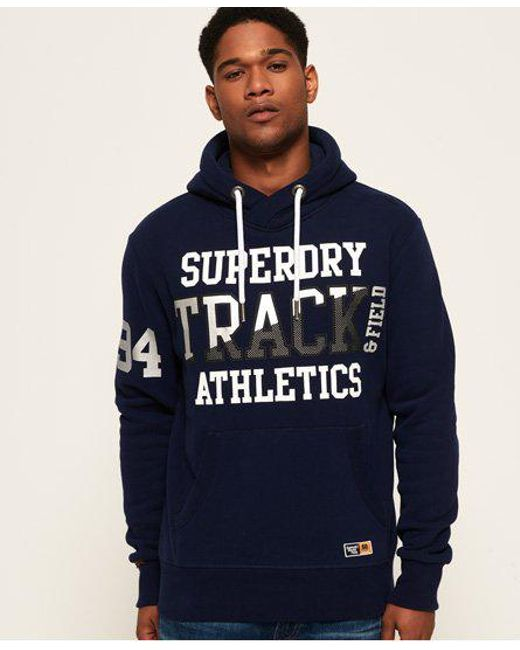 Superdry - Blue Super Track Metallic Hoodie for Men - Lyst