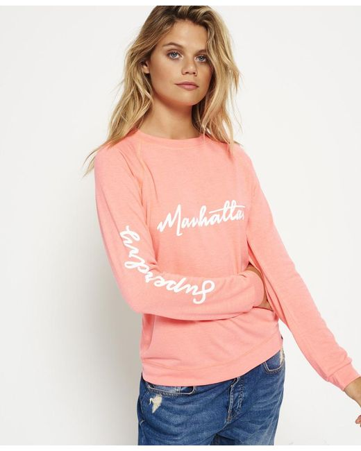 Superdry - Pink New York City Crew Jumper - Lyst