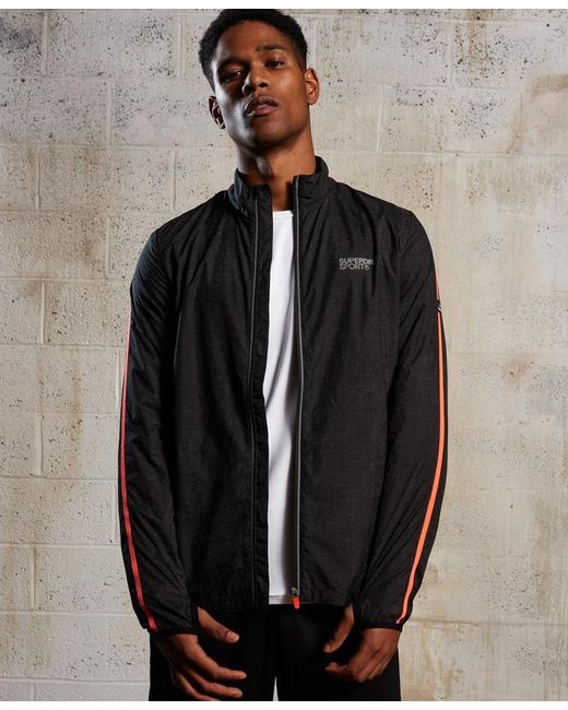 Superdry - Black Core Running Shell Jacket for Men - Lyst