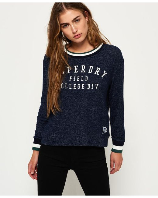 Superdry | Blue Brentwood Sweater | Lyst