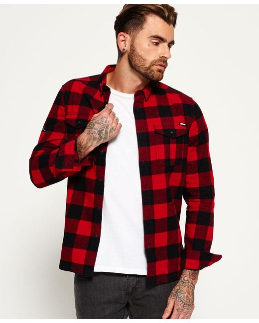 Superdry Rookie Plaid Shirt In Red For Men - Save 31%