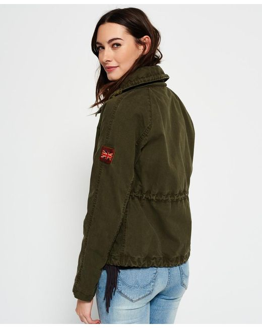 Superdry Rookie Field Crop Parka Jacket in Green | Lyst