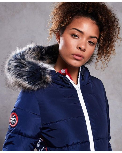 cdc00fa76 Superdry Streetwear Tall Repeat Puffer Jacket in Blue - Lyst