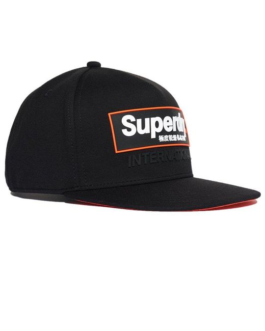 63a2e784 ... Superdry - Black International B Boy Cap for Men - Lyst ...