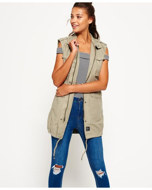 Superdry - Multicolor Sleeveless Mono Utility Jacket - Lyst