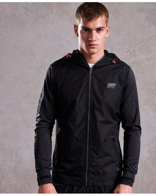 Superdry - Black Active Reflective Hybrid Jacket for Men - Lyst