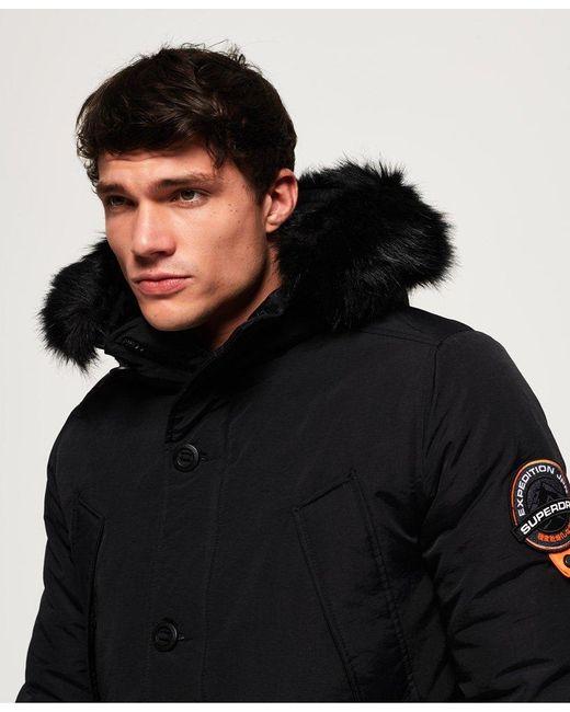 fbf0b8e0ff8 ... Superdry - Black Everest Parka Jacket for Men - Lyst ...