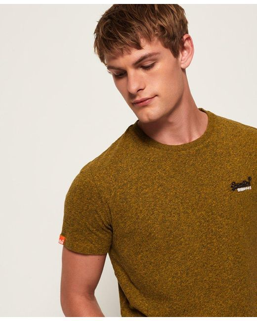 37b69a63 ... Superdry - Yellow Orange Label Vintage Embroidery T-shirt for Men - Lyst  ...
