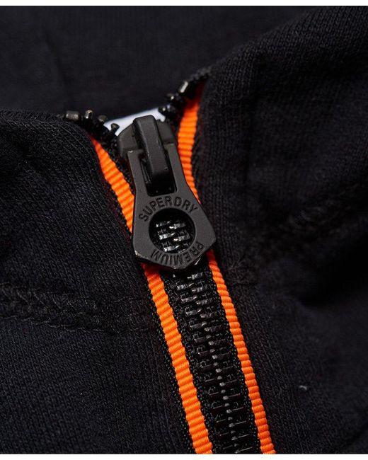 1c6dfb9a29ad2e ... Superdry - Black Orange Label Urban Flash Half Zip Hoodie for Men -  Lyst ...