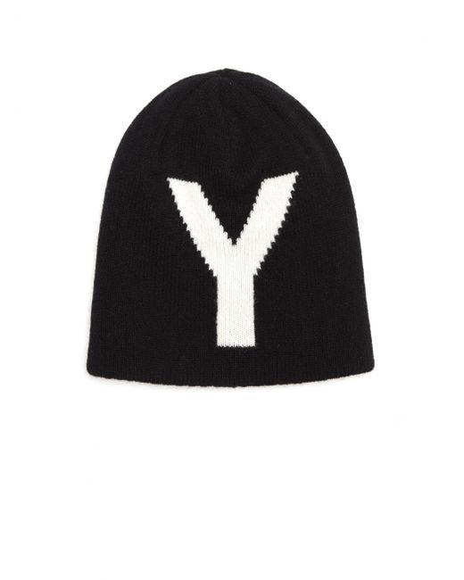 Y's Yohji Yamamoto - Black Reversible Wool Knit Hat - Lyst
