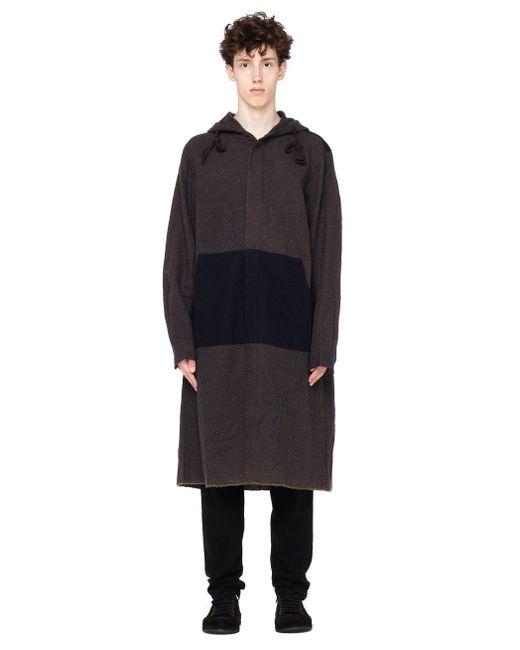 Ziggy Chen | Brown Hooded Wool Coat for Men | Lyst