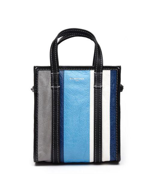 Balenciaga - Multicolor Bazar Striped Leather Bag - Lyst