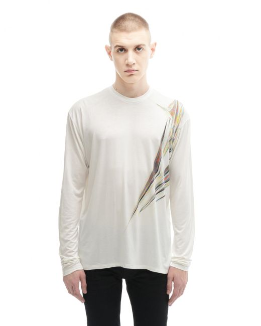 Y. Project | White Rayon Long Sleeve T-shirt for Men | Lyst